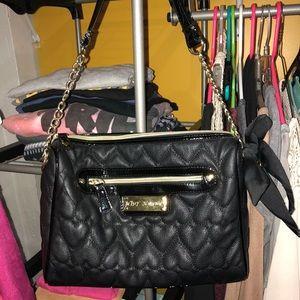 Betesy Johnson black and gold purse